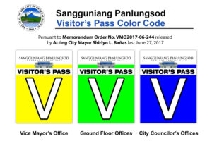 Visitors Pass Color Code